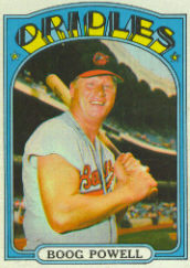 1972 Topps Baseball Cards      250     Boog Powell